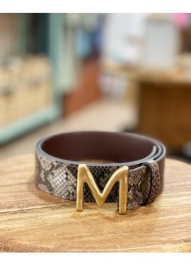 """Cinturón serpiente """"M"""""""