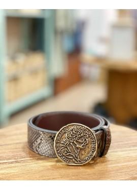 Cinturón serpiente moneda