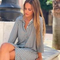 Los estampados geométricos esta temporada 💯✨  #heynikki #vestidos #ropamujer #rebajas #tiendaonline