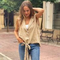 Chaleco de lino ✌🏼colores  ¡No te pierdas las REBAJAS en la shop online!💻  #heynikki #ropamujer #rebajas #tiendaonline