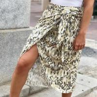 Nuevo modelo de falda-pareo con estampado Ikat 💛💛💛
